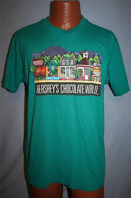 Vintage 1989 HERSHEY'S CHOCOLATE WORLD 50/50 T-SHIRT Large CANDY Rare REESE'S