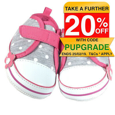 Baby Shoes/Pre Walkers/Slippers/Booties 3-6 Months Kids/Girls Polka Pink Soft