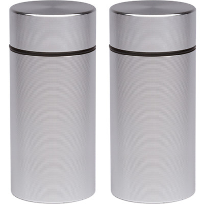 2 x Airtight-Smell-Proof-Container-Aluminum-Herb-Stash-Jar  ,new