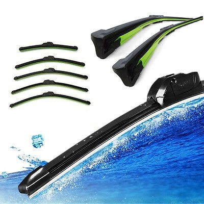 Soft Car Bracketless Frameless Rubber Window Windshield Wiper Blade Brush Black