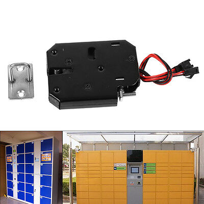 New Carbon Steel DC 12V Electric Control Cabinet Drawer Lockers Lock Latch hg