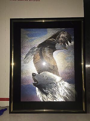 "Eagle And Wolf Holographic Picture 8""x10"""