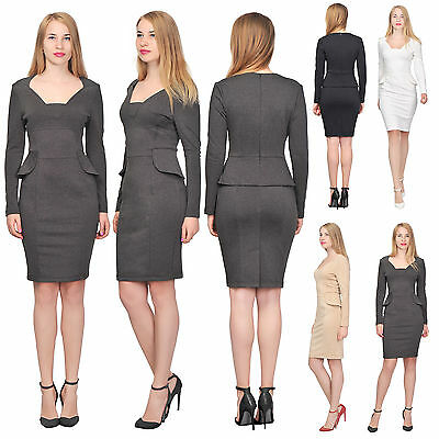 Marycrafts Womens Classy Formal Peplum Pencil Dresses Work Business