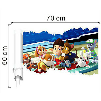 3D PAW Patrol Dog Wall Stickers Home Decor Kids Room Decoration Art Posters