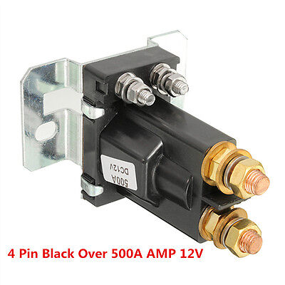 500A AMP 4 Pin 12V DC High Current Relay Contactor On/Off Car Auto Power Switch