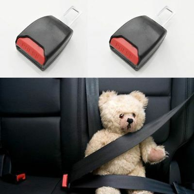 Auto Car Seat Belt PAIR Safety Universal Adjustable Buckle Clip Extender Stopper