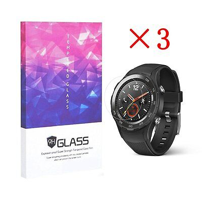 9H Hardness Tempered Glass Screen Protectors for HuaWei watch 2(3 pcs)