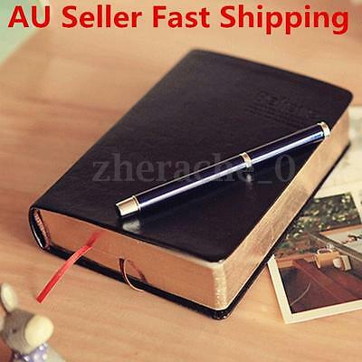 Vintage Retro PU Leather Cover Notebook Journal Diary Travel Notepad Blank Pages