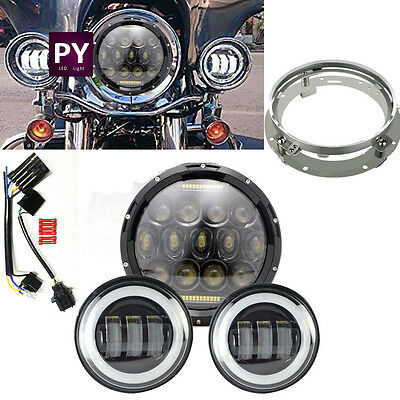 Harley Davidson motorcycle Daymaker Round LED Headlight +2pc fog light+ bracket