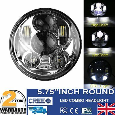 """For Harley 5.75"""" Motorcycle Projector Daymaker Headlight HID LED Light Lamp UK"""