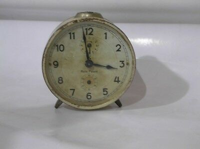 Rare vintage ROLLS PATENT table clock !