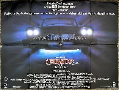 CHRISTINE 1983 John Carpenter, David Keith, Stephen King UK QUAD POSTER