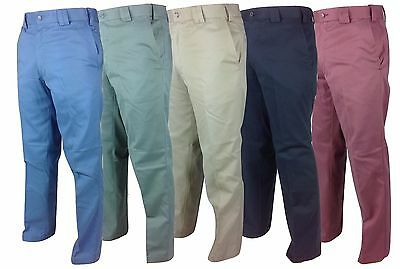 Mens PREMIUM Chino Expand a Band Trousers 100% Cotton Comfort Casual Summer Pant