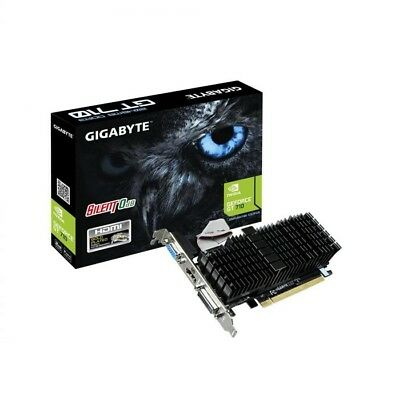 Gigabyte GT 710 2GB GeForce Silent Video PCIe 2.0 nVIDIA Graphics HDMI DVI VGA..