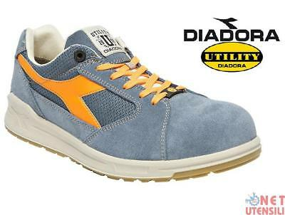 DIADORA D-JUMP LOW S1P SRC ESD SAFETY SHOES WORKING SUMMER blue'