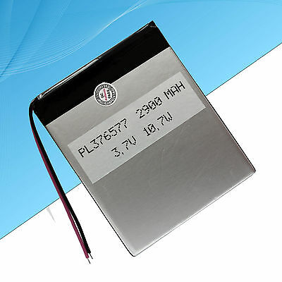 Rechargeable Polymer Lithium Battery For Android Tablet  2900 mAh 3.7V
