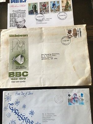 Job Lot UK GB First Day Covers from 1971 to 1980