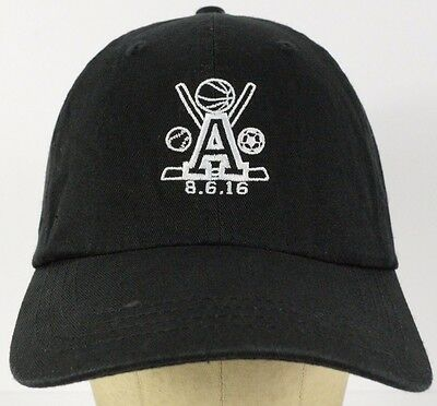 7c44448b983 University of Arizona Sports A Logo Black Baseball Hat Cap Adjustable Strap
