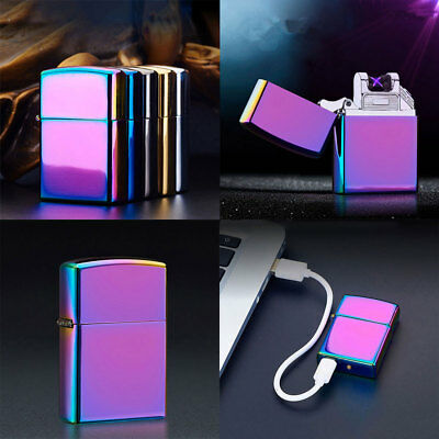 Plasma Windproof Lighter USB Rechargeable Flameless Dual Arc Cigarette Electric