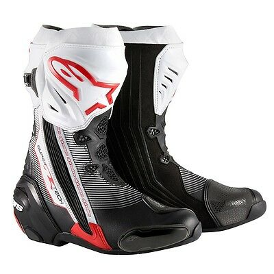 Alpinestars Supertech R Red/Black/White Motorcycle Boots Free Eu Delivery