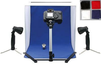 Mini Portable Photo Studio Tent/Set/Kit with 2 lights and 4 backgrounds (PHT3-1)