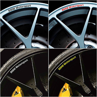BMW Motorsport Rims Alloy Wheels Curved Decals Stickers Series 1 3 4 5 6 X M E F