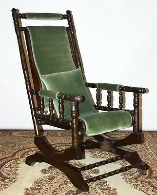 Victorian mahogany Platform Rocking Chair Early- Free Shipping [PL3109]