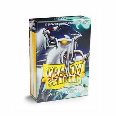 YUGIOH Dragon Shield Mini 60 JAPANESE Style Deck Protector Sleeves Matte White