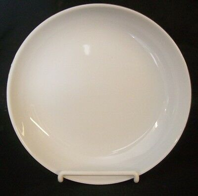 "Restaurant Equipment 12 NEW WHITE CHINA BOWLS WITH PLATINUM RIM 8"" diameter"