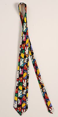 "Original 100% Silk Tie ""Mickey.Inc since 1928"" Disney Cartoons"