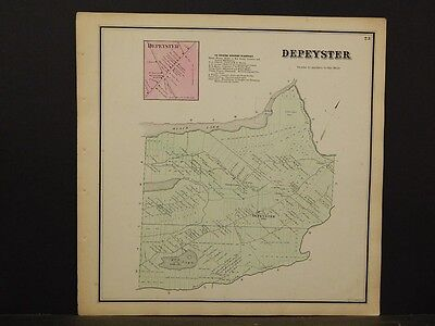 New York, St. Lawrence County Map, Depeyster Township 1865  Y5#49