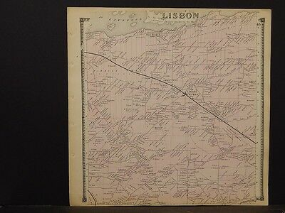 New York, St. Lawrence County Map, Lisbon Township 1865  Y5#57