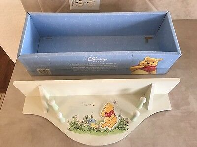 Disney Baby - Winnie The Pooh - Nursery - Wall Shelf With Pegs - New