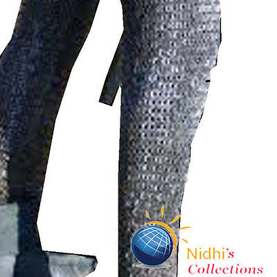 Medieval Armour Chainmail Legging Pair/chausses 9Mm Flat Riveted With Washer