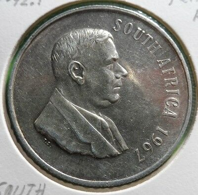 SOUTH AFRICA, 1 Rand, 1967, Silver