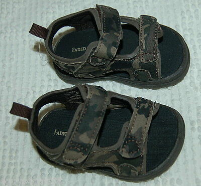 Starter Toddler Boys/' Gray//Orange 2 Strap Rugged Athletic Sneakers//Shoes 7-11