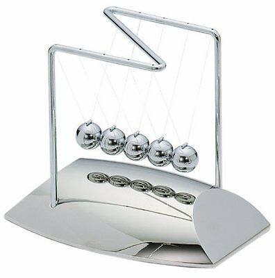 ActionFly Newtons Cradle Balance Balls Physics Pendulum Science Desk Office Toy