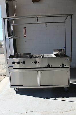 Food Cart, Taco Cart, Gyro, Griddle, Grill, Steamer and Fryer.