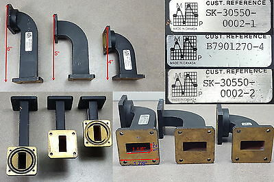 """Lot of 3 MP Waveguide Bend 4"""", 5"""" and 6"""""""