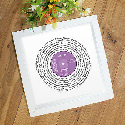 Personalised Gift for Mother's Day Mum Mam | Any Special Song Words Record Style