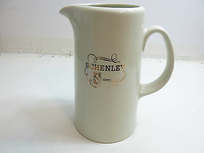 """Vintage Advertising Whiskey Pitcher Schenley ~ Large Size 9"""" Tall Hall Pottery"""