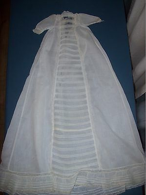 """Antique White Infant Christening Gown 28"""" long"""