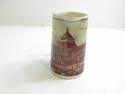 """Vintage Advertising Whiskey Type Pitcher Harvey's Brewery 5 1/2"""" Tall Pottery"""