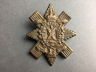 Early Royal Highlander Regiment Black Watch Solid Cast Metal Cap Bonnet Badge