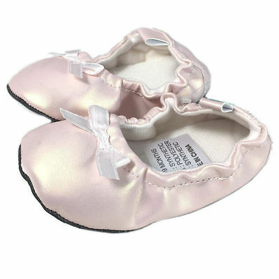 Baby Shoes/Pre Walkers/Slippers/Booties 6-9M Kids/Girls Ballet Flats Pink Soft
