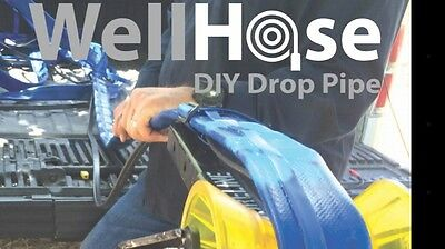 "4"" WELL HOSE DIY FLEXIBLE DROP PIPE FOR WATER WELL / SUBMERSIBLE PUMP 150' W/FIt"