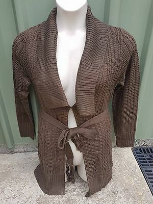 Ripe Maternity Wear - Waffle Knit Cardigan - Bark - Medium - New
