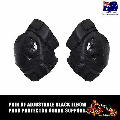 Sports Safety Protection Adults Kids Men Elbow Protective Gear Pads Black Set