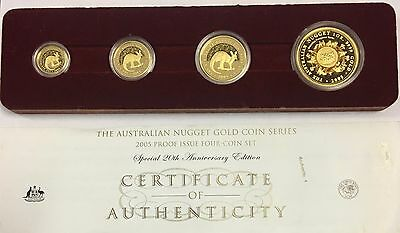 2005 Australia 4-Coin Gold Nugget Proof Set