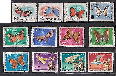 (U19-27) 1960-70 Hungary mix of 36stamps value to 1.24P (F)